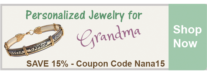 Save 15% on Personalized Jewelry for Grandmas from The BananaNana Shoppe