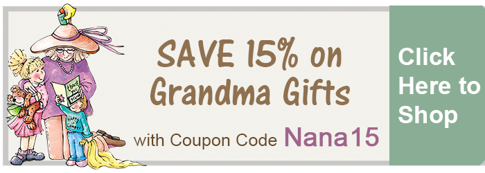 Save 15% on Grandma Gifts from The BananaNana Shoppe!